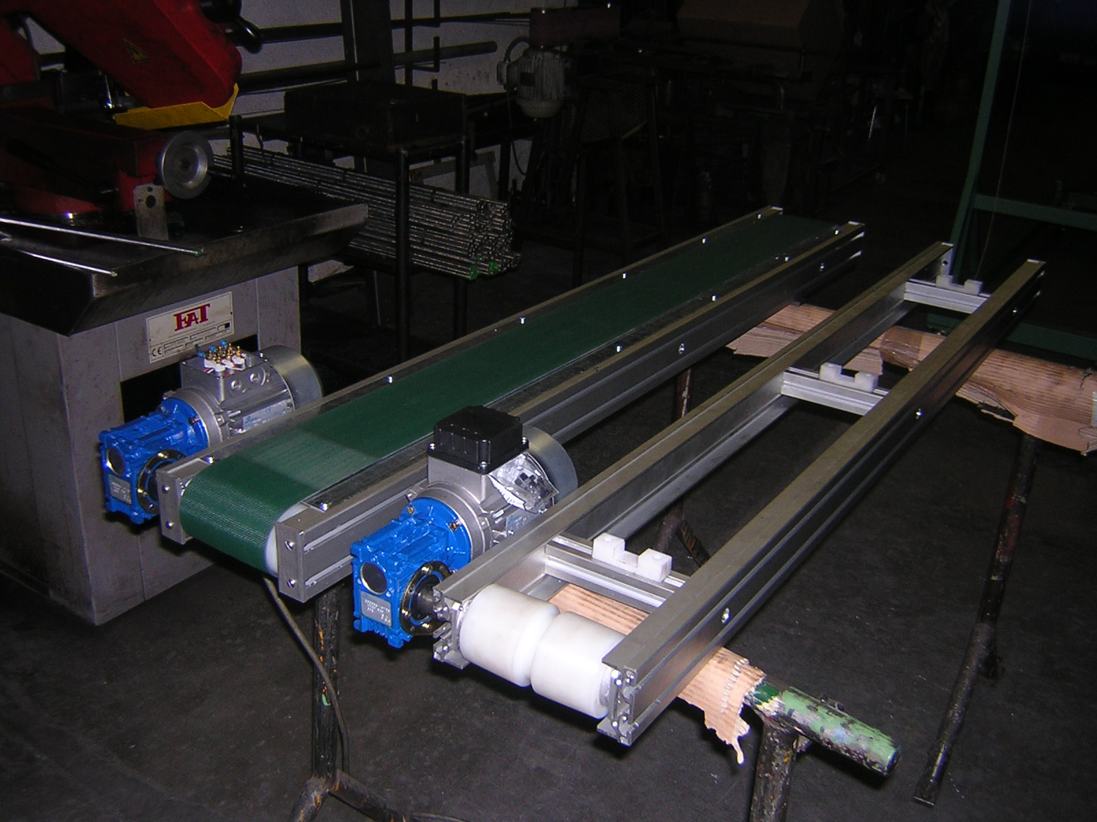 Cinta transportadora de aluminio